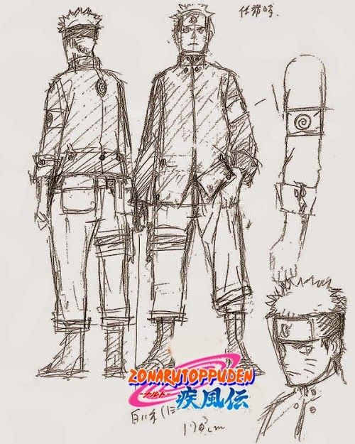 Bocetos de The Last Naruto The Movie