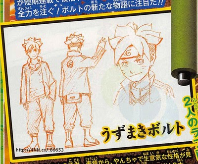 Diseños de Bolt Uzumaki en Boruto The Movie