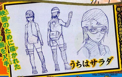 Diseños de Sarada Uchiha en Boruto The Movie